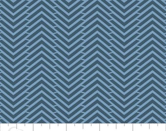 Cotton chevron jeans blue