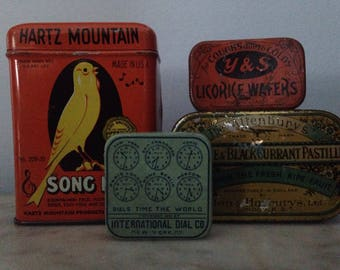 Collection of 4 tins