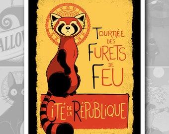 """POSTER """"Furets de Feu"""" The Legend of Korra"""