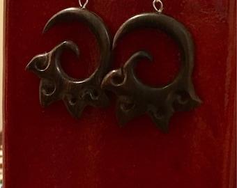 Sumba Carved Earrings