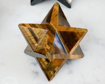 Large Merkaba stars. Chakra stones. Universe Healing Crystals Reiki Love Handmade carved
