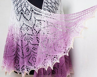 Valentine gift,Hand knit shawl, Wedding shawl, Knit wrap, Boho shawl,Lace shawl,knitted shawl, shawl wrap,Ready to ship,bridesmaids shawl