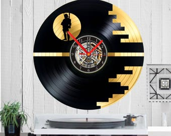 Star Wars gold vinyl clock Star Wars uhr vinyl uhr vinyl record clock Star wars clock home decor Birthday gift wall clock anniversary gift