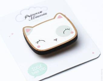 Brooch * my cat * / Cat / badges
