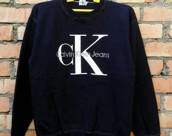 OFF 15% Rare!!! Calvin Klein Jeans Pullover Sweatshirt Medium Size