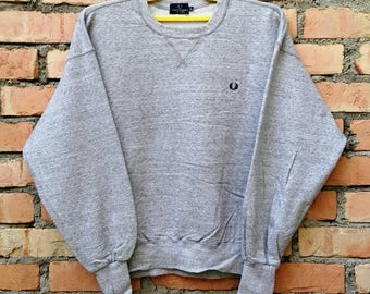 Rare!!! Fred Perry Sportswear Pullover Sweatshirt Large Size