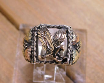 Sterling Silver Eagle Ring Size 9.25