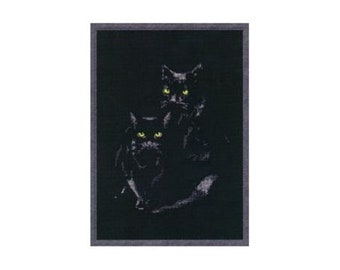 Cross Stitch Kit Cats S-006