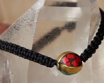 Wire nylon Tibetan Bead Bracelet