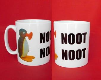 Pingu Noot Noot Meme Inspired Coffee Tea Mug 10oz