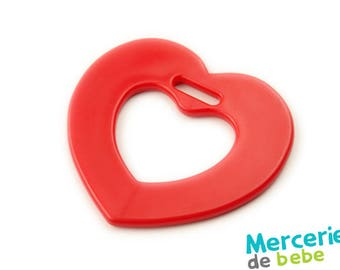 Decorative red - heart shaped - element C19 - R5