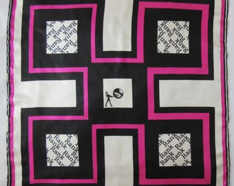 RICHARD ALLAN vintage silk twill scarf RANK Gong Man very good condition