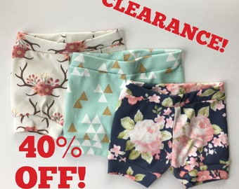 CLEARANCE! Shorties, Shorts, girl, floral, Triangle, Navy, Deer, Antler, Bloomers