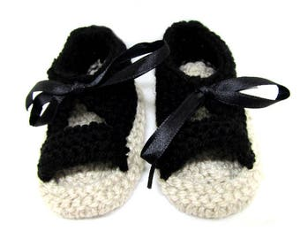 Baby shoes with 3/4 months for the summer - babies - black shoes - Spartans - Sandals - baby booties