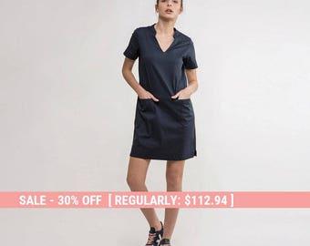 Casual dress,Navy Dress,summer navy Dress,short navy dress,Basic navy Dress,short sleeve Blue Dress,classic navy dress,basic dress,Dress