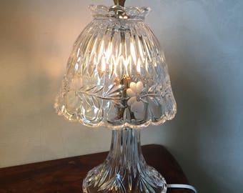 Princess House Heritage Crystal Boudior Small Night Light Lamp