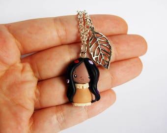 OUTLET! Sale! Simple bracelet Pocahontas in fimo leaf