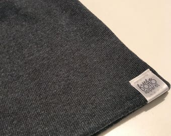 Charcoal Ribbed Beanie
