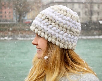 Crochet Pattern, Chunky Crochet Pattern, Puff Stitch Pattern, Mom Gift, Beanie Pattern, Touque Pattern, Hat Pattern, PDF Pattern, Gift