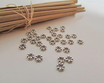 50 spacer beads 4.5 x 1.5 mm antiqued silver plated - 2 mm hole - 414.34