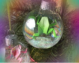 Origami Frog Ornament