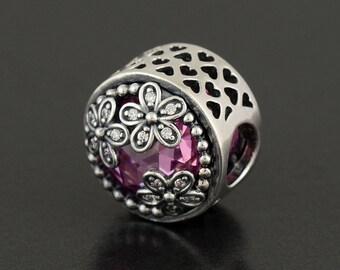 New Authentic Pandora Charm Bead Dazzling Daisy Meadow 792055PCZ