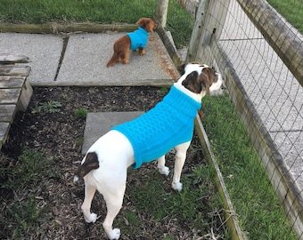 Honeycomb Cabled Pet Sweater