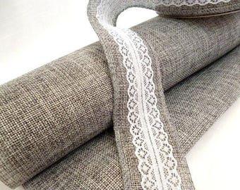 Kit Rustic Gray roll of cloth and And tape_ID78553921/5532_Kit Wedding_ shabby chic decor