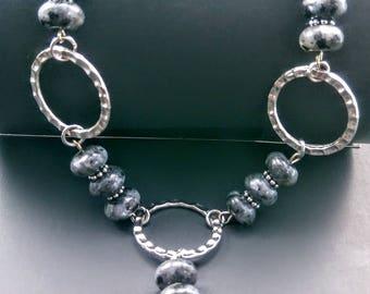 31in Labradorite & silver Necklace