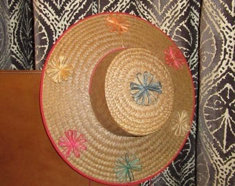 Vintage Woven Straw Hat