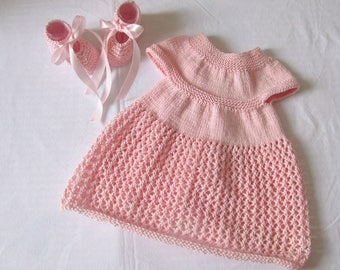 Set dress and shoes 0/3 months Cotton Baby Pink