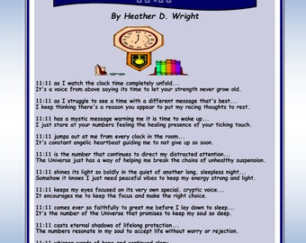 11-11 - Printable Poetry Instant Download