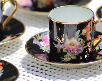 Porcelain demitasse cups
