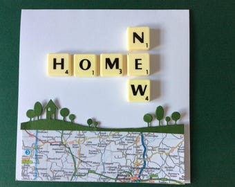 New Home Scrabble  Greeting Card