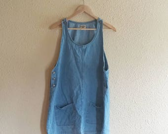 90s Vintage Denim Dress