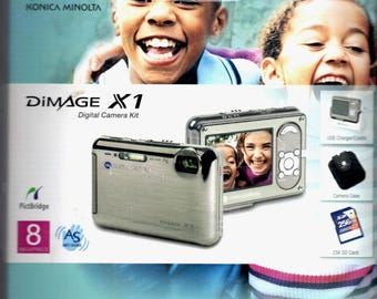 Konica Minolta Dimage X1 8.0 MP Digital Camera Free Shipping