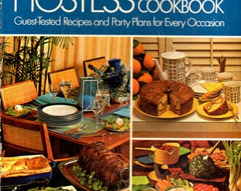Vintage ~BETTY CROCKER'S Hostess~ HC Cookbook Recipes and Party Plans 6th Printing 1973 Golden Press New York  Free Shipping