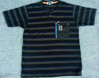 Vtg PAGELO Stripes T-Shirt Made In Japan