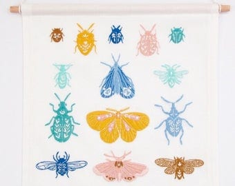 PDF Digital Download - Artist Series - Beetles and Moths Embroidery Pattern - Thread Folk and Oh Baby Bird