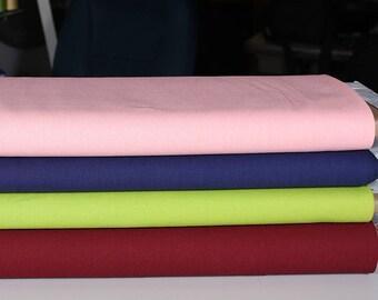 1 mètre de lin et coton, turquoise, charcoal, beige, rose pâle, bourgogne, bleu foncé ou vert lime
