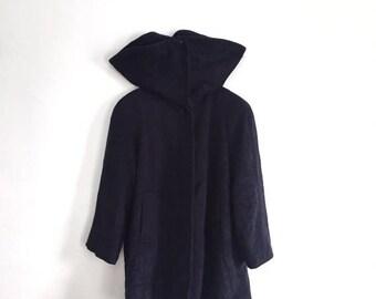 "Sale 25% RARE!!! Vintage CHRISTIAN DIOR Long Neck Oversize Wool Trench Coat Jacket Size 7 armpit 25""x41""Rare Rick Owens Thom Browne Raf Simo"