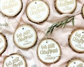 Christmas ornament, baby's first Christmas, newlyweds, custom, mr. And Mrs., Christmas gift, holiday ornament, bride gift, family ornament