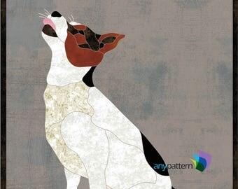 Dog Ollie Applique Quilt Pattern