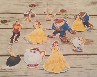 Beauty & The Beast  Die Cuts/Birthday Party Decor/Scrapbook