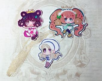 stickers: yuri kuma arashi