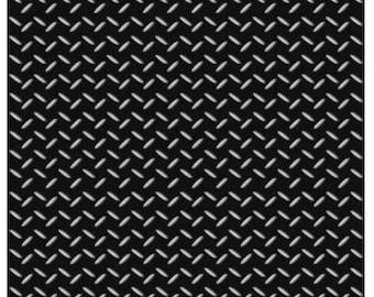 Quilting Cotton - MOTORBIKES - Checkerplate Black -1/2m piece