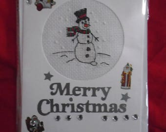 Finished Snowman - Christmas Card