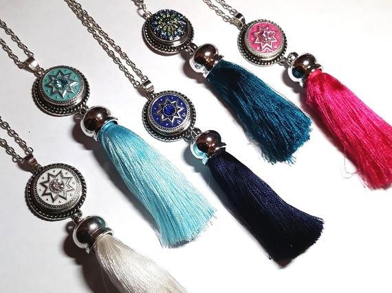 WHOLESALE- Nautical Tassel Necklace, Silver