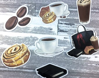 sweets and coffee Die cut | Planner Sticker, planner die cut, die cuts, fall die cut, autumn die cut, coffee die cut, food die cut