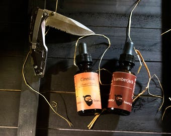Dual Collection - Cinnilla & Lumberjack Beard Oil 1oz each - Beard Moisturizer, Beard Conditioner, Beard Care